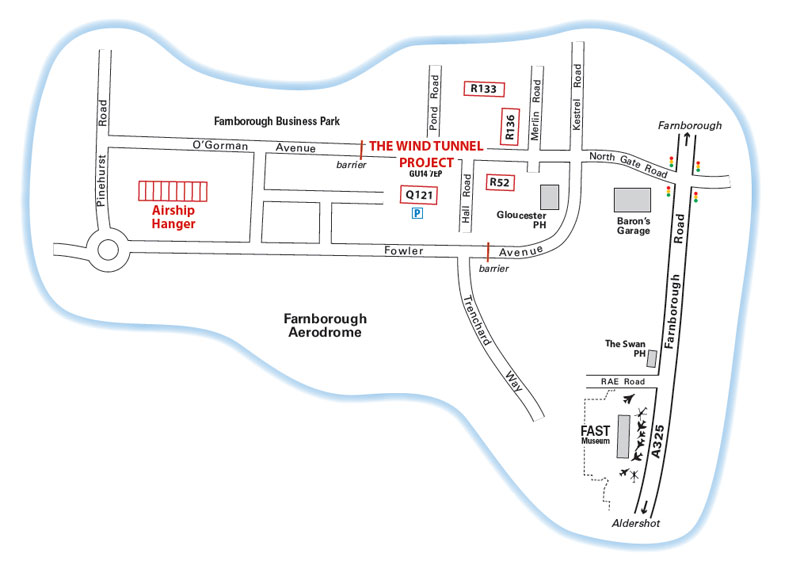 Farnborough Wind Tunnel Tours Parking