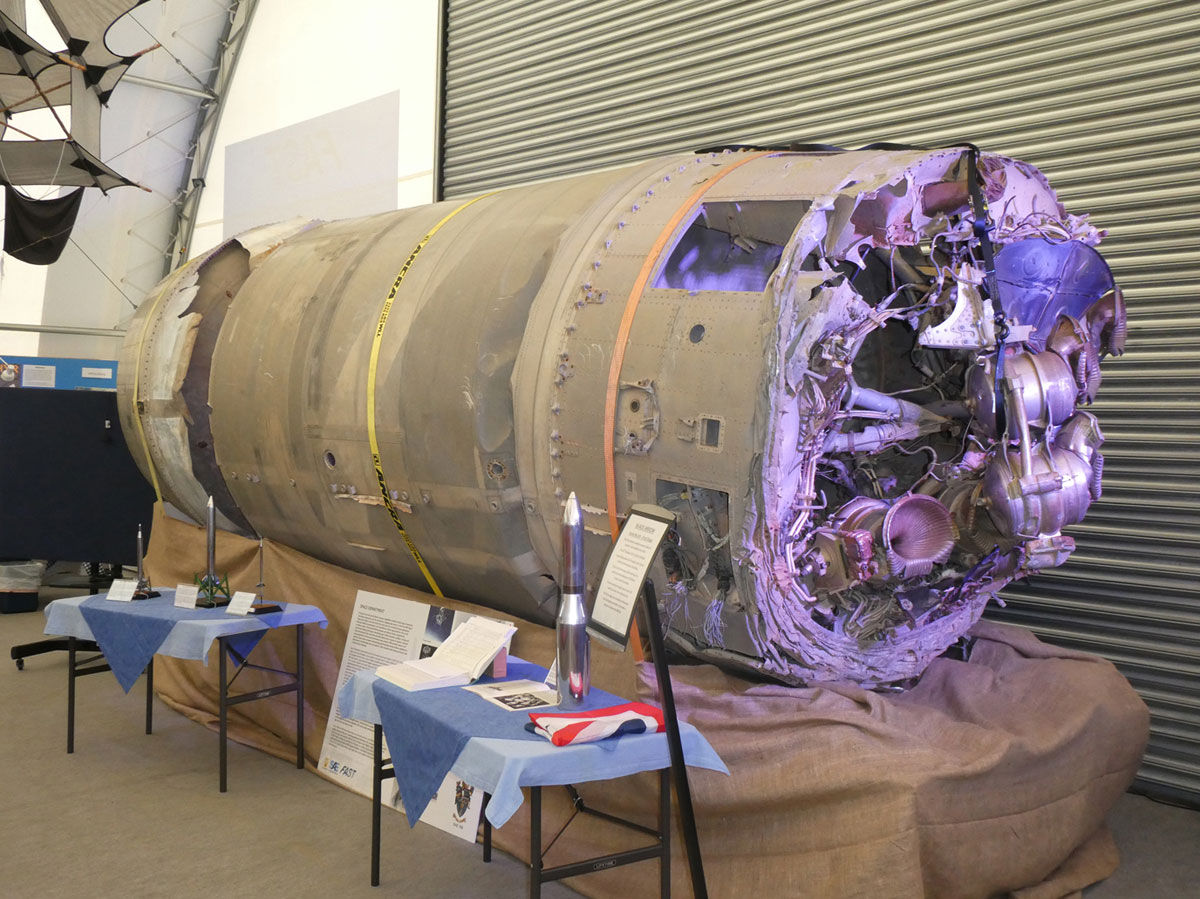 Black Arrow Rocket at Farnborough Air Sciences Museum
