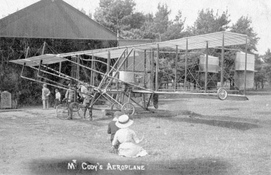 Cody Flyer at Farnborough 1908